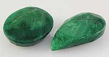 130.83ctw Faceted Loose Emerald Beryl Gemstone Lot of 2 - L20469
