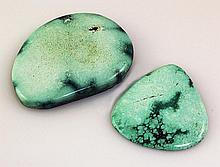 Natural Turquoise 143.86ctw Loose Gemstone 2pc Big Size - L21122