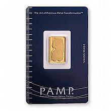 Gold Bars: Pamp Suisse 5 Gram Gold Bar - L21634
