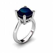 Sapphire 4.50ctw Ring 14kt White Gold - L11016