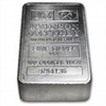5 oz Johnson Matthey Silver Bar (Pressed, TD Bank) - L24753