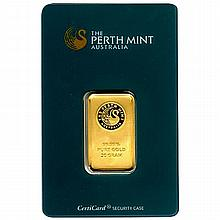 Gold Bars: Perth Mint 20 Gram Gold Bar - L21639