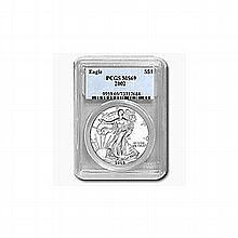 2002 1 oz Silver American Eagle MS-69 PCGS - L22826
