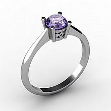 Tanzanite 0.56 ctw Ring14kt White Gold - L15168