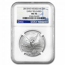 2013 1/2 oz Silver Libertad MS-70 NGC (ER) - Registry Set - L24936