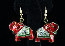 6.47GRAM INDIAN HANDMADE LAKH ELEPHANT EARRING - L19314