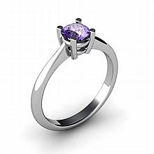 Tanzanite 0.56ctw Ring 14kt White Gold - L10965