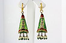 6.58GRAM INDIAN HANDMADE LAKH FASHION EARRING - L19390