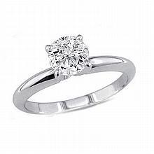 0.35 ct Round cut Diamond Solitaire Ring, G-H, I1-I2 - L11375