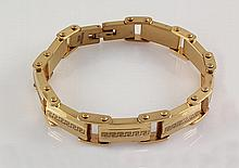 Men's Electroplated Link Gold Bracelet 8 3/4 - L25138