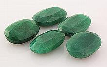 147.54ctw Faceted Loose Emerald Beryl Gemstone Lot of 5 - L20442