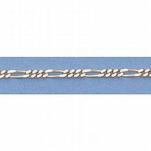 Pure Gold 16 14kt Italian Gold-Yellow 1.4mm, Figaro Chain Gauge:040, 2.2gr - L11300