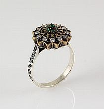Natural Stone Statement Victorian Design Ring - L23189