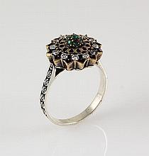 Natural Stone Statement Victorian Design Ring - L23189