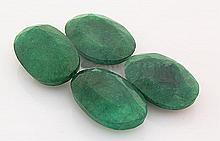 114.76ctw Faceted Loose Emerald Beryl Gemstone Lot of 4 - L20422
