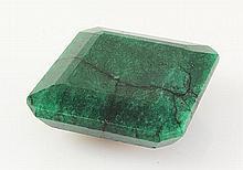 Emerald 136.30ctw Loose Gemstone 34x34x14mm SquareCut - L20519