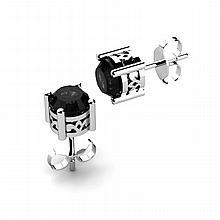 Black Diamond 1.70ctw Earring 14kt White Gold - L11166
