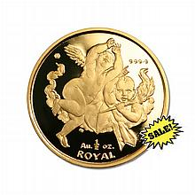 Gibraltar Half Ounce Gold Royal Cherub 2001 - L18419