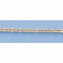 Pure Gold 16 14kt Italian Gold-Yellow or White 1.3mm, D/C Circle Link Chain Gauge:030, 1.4gr - L11251