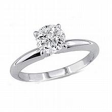 0.75 ct Round cut Diamond Solitaire Ring, G-H, VS - L11370