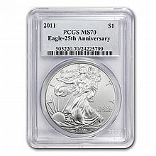 2011 1 oz Silver American Eagle MS-70 PCGS - L22673