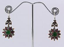 Natural Stone Antique Design Dangle Earring - L23091