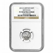 2012 1/10 oz Silver Britannia PF-70 UCAM NGC - L19922