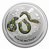 2013 2 oz Australian Silver Year of the Snake Colorized Coin - L24981