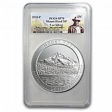 2010-P 5 oz Silver ATB Mount Hood PCGS SP-70 PCGS Roosevelt - L24821