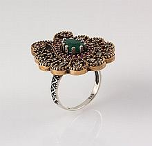 Natural Stone Cocktail Victorian Design Ring - L23148