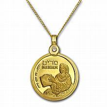Israel Miriam Gold Necklace - AGW 0.0729 oz - L26633