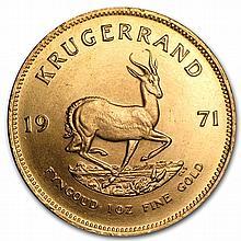 1971 1 oz Gold South African Krugerrand (BU) - L26251