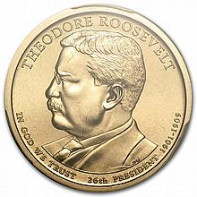2013P Theodore Roosevelt Position A Presidential Dollar MS66 PCGS - L29442