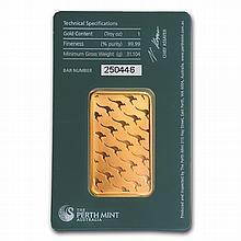1 oz Perth Mint Gold Bar .9999 Fine (In Assay) - L25586