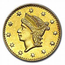 (1853) BG-222 Liberty Round 25 Cent Gold MS-62 - L28902