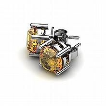 Citrine 2.60ctw Earring 14kt White Gold - L10919