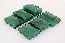 191.94ctw Faceted Loose Emerald Beryl Gemstone Lot of 6 - L20384