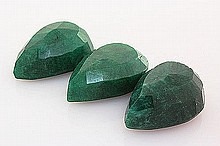 181.03ctw Faceted Loose Emerald Beryl Gemstone Lot of 3 - L20387