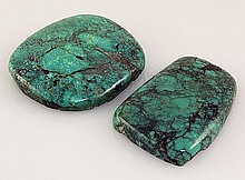 Natural Turquoise 153.26ctw Loose Gemstone 2pc Big Size - L21133