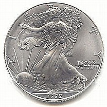 Uncirculated Silver Eagle 1999 - L17933