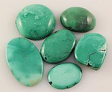 Natural Turquoise 170.00ctw Loose Small Gemstone Lot of 6 - L21314