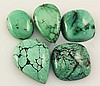 Natural Turquoise 163.90ctw Loose Small Gemstone Lot of 5 - L21297