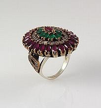 Natural Stone Cocktail Victorian Design Ring - L23154