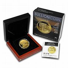 2012 Israel Menorah 1 oz .9999 Fine Gold Bullion Coin - L19555