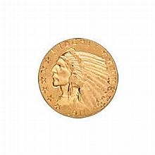 $5 Indian Extra Fine Early Gold Bullion - L18151