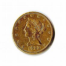 $10 Liberty Jewelry Grade Early Gold Bullion - L18147