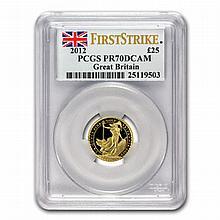 2012 1/4 oz Proof Gold Britannia PR-70 DCAM PCGS (FS) - L19921