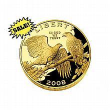 Gold $5 Commemorative 2008 Bald Eagle Proof - L18418