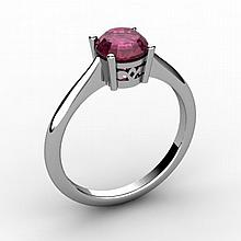 Ruby 1.05 ctw Ring 14kt White Gold - L15179