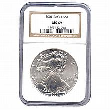 Certified Proof Silver Eagle PF69 2001 - L17994